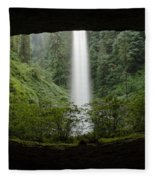 North Falls Oregon 2 Fleece Blanket