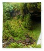 North Falls Waterfall Fleece Blanket