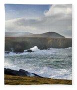 North Mayo, Co Mayo, Ireland Sea Cliffs Fleece Blanket