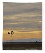 Northern California Windmill Fleece Blanket