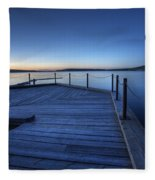 Northern Lake Evening Fleece Blanket