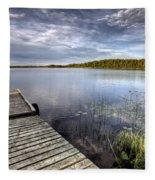 Northern Saskatchewan Lake Fleece Blanket