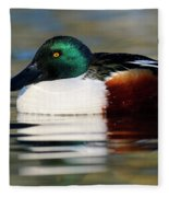 Northern Shoveler Anas Clypeata Male Fleece Blanket