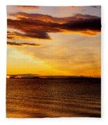 Northern Sunset Fleece Blanket