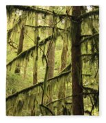 Northwest Mossy Tree Fleece Blanket