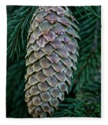 Norway Spruce Cone Fleece Blanket