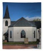 Norwegian Church Cardiff Bay 2 Fleece Blanket