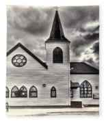 Norwegian Church Cardiff Bay Cream Fleece Blanket