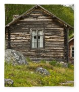 Norwegian Timber House Fleece Blanket