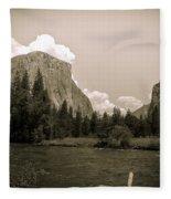 Nostalgic Yosemite Valley Fleece Blanket
