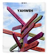 Not Your Way But Yahweh Fleece Blanket