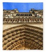 Notre Dame Details 7 Fleece Blanket