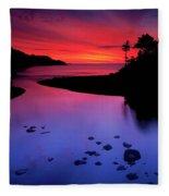 Nova Scotia Sunrise Fleece Blanket