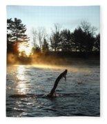 November Morning Mist Fleece Blanket