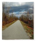 November On Macomb Orchard Trail Fleece Blanket