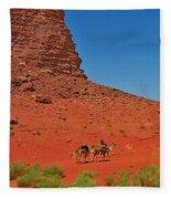 Nubian Camel Rider Fleece Blanket