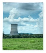 Nuclear Cooling Tower Fleece Blanket