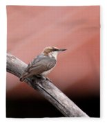 Nuthatch - Bird - Barn Roof Fleece Blanket