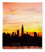 Ny Saturday Sunrise Fleece Blanket