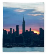 Ny Skyline Blue Dawn Fleece Blanket