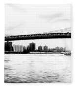 Nyc - Manhattan Bridge Fleece Blanket