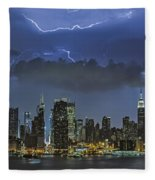 Nyc All Charged Up Fleece Blanket