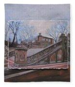 Nyc Bethesda Stairs Layered Fleece Blanket