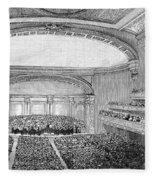 Nyc: Carnegie Hall, 1891 Fleece Blanket