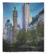 Nyc Central Park 2 Fleece Blanket