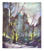 Nyc Central Park Controluce Fleece Blanket