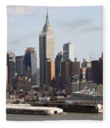 Nyc In The Afternoon Fleece Blanket