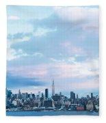 Nyc-sundown Blue I Fleece Blanket