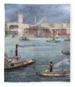 Nyc: The Battery, 1884 Fleece Blanket