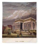 Nyc: The Tombs, 1850 Fleece Blanket