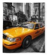 Nyc Yellow Cab Fleece Blanket
