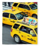 Nyc Yellow Cabs Fleece Blanket