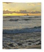 Oahu Morning 6835 Fleece Blanket