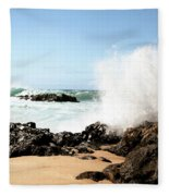 Oahu North Shore Breaker Fleece Blanket