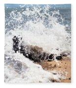 Oahu North Shore Splash Fleece Blanket