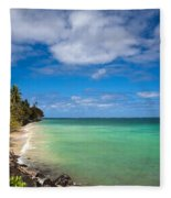 Oahu Solace Fleece Blanket