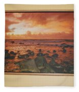 Oak Floater Frame Fleece Blanket