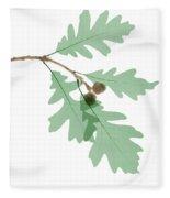 Oak Leaves, X-ray Fleece Blanket