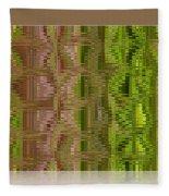 Oasis In The Desert - Abstract Art Fleece Blanket