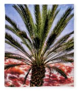 Oasis Palms Fleece Blanket