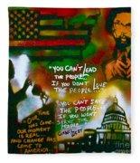 Obama Vs. Cornel Fleece Blanket