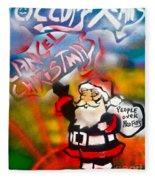 Occupy Christmas Fleece Blanket