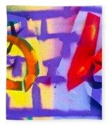 Occupy Graffiti Love Fleece Blanket