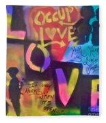 Occupy Love Open Heart Fleece Blanket