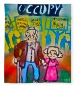 Occupy The Young And Old Fleece Blanket
