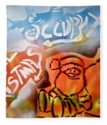 Occupy X-mas Fleece Blanket